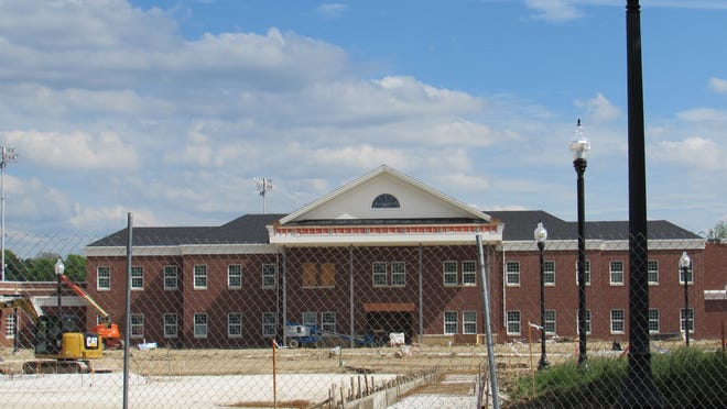 The Hudson school district is constructing a new middle school near the current middle school.