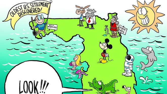 Florida cartoon: That moment when Pensacola upstages St. Augustine