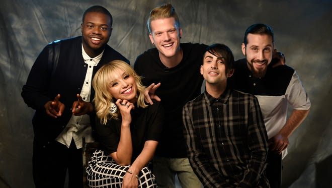 Kevin Olusola, Kirstin Maldonado, Scott Hoying, Mitch Grassi and Avi Kaplan of Pentatonix.
