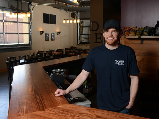 Zac Williams co-owner of Double Edge Brewery and Taproom