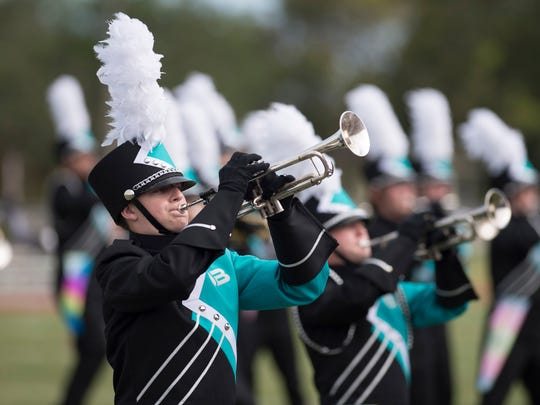 Photo from The 36th annual Crown Jewel Marching Band Festival at Vero Beach High School's Citrus Bowl. This year's competition is Oct. 13 at the Citrus Bowl.