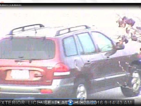 West Manchester Township Police say this is the getaway vehicle used following a robbery at the Wal-Mart at 1000 Town Center Drive on Monday.