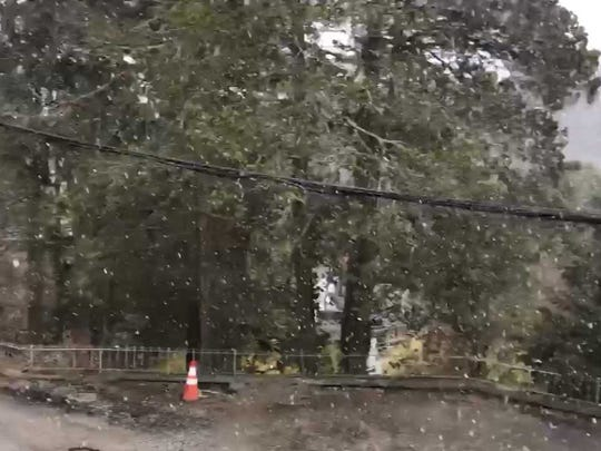 Parts of northern New Jersey saw snow on the last day of April
