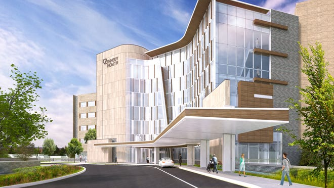 An artist rendering of the new Kennedy Hospital expansion in Cherry Hill.