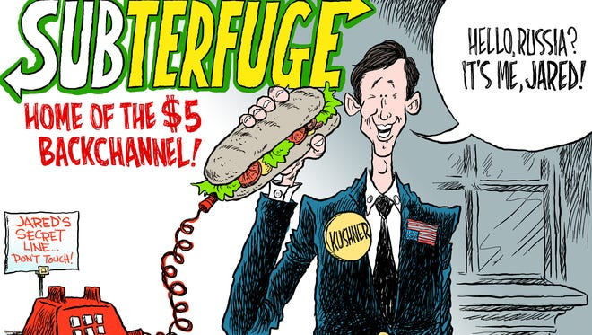 Jared Kushner back channel commentary by Andy Marlette