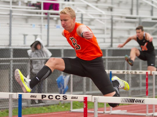 Tommy Kocab of Brighton finished second in the 300-meter