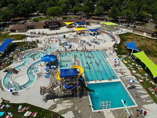 The Chambersburg Family Aquatic Center opened to large
