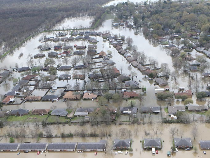 Bird 39 s eye view of the flooding in northeast louisiana for Home builders in monroe la