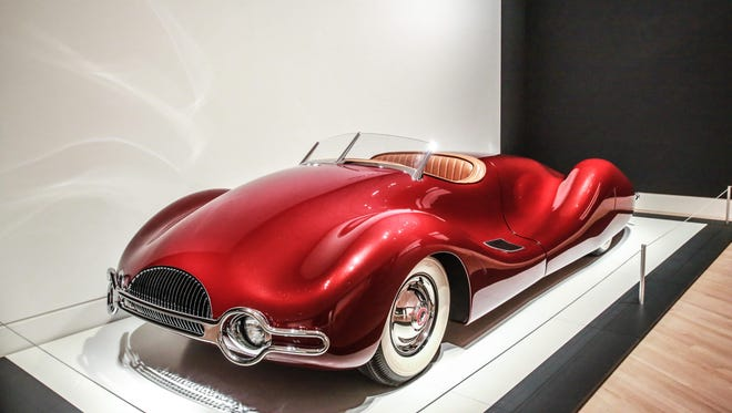 "The 1947 Norman Timbs Special, on loan from Gary and Diana Cerveny, is part of the ""Dream Cars: Innovative Design, Visionary Ideas"" exhibit at the Indianapolis Museum of Art."