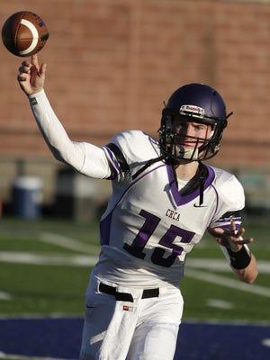 Cincinnati Hills Christian Academy junior quarterback Johnny Noyen threw for 1,715 yards and 23 touchdowns in the regular season in 2014.