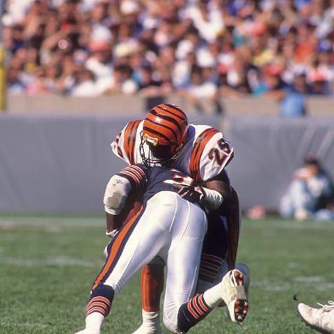Football: Cincinnati Bengals Rickey Dixon (29) in...