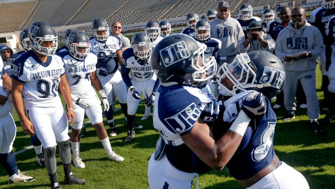 Jackson State players will be facing off against one another plenty of times throughout the next month.