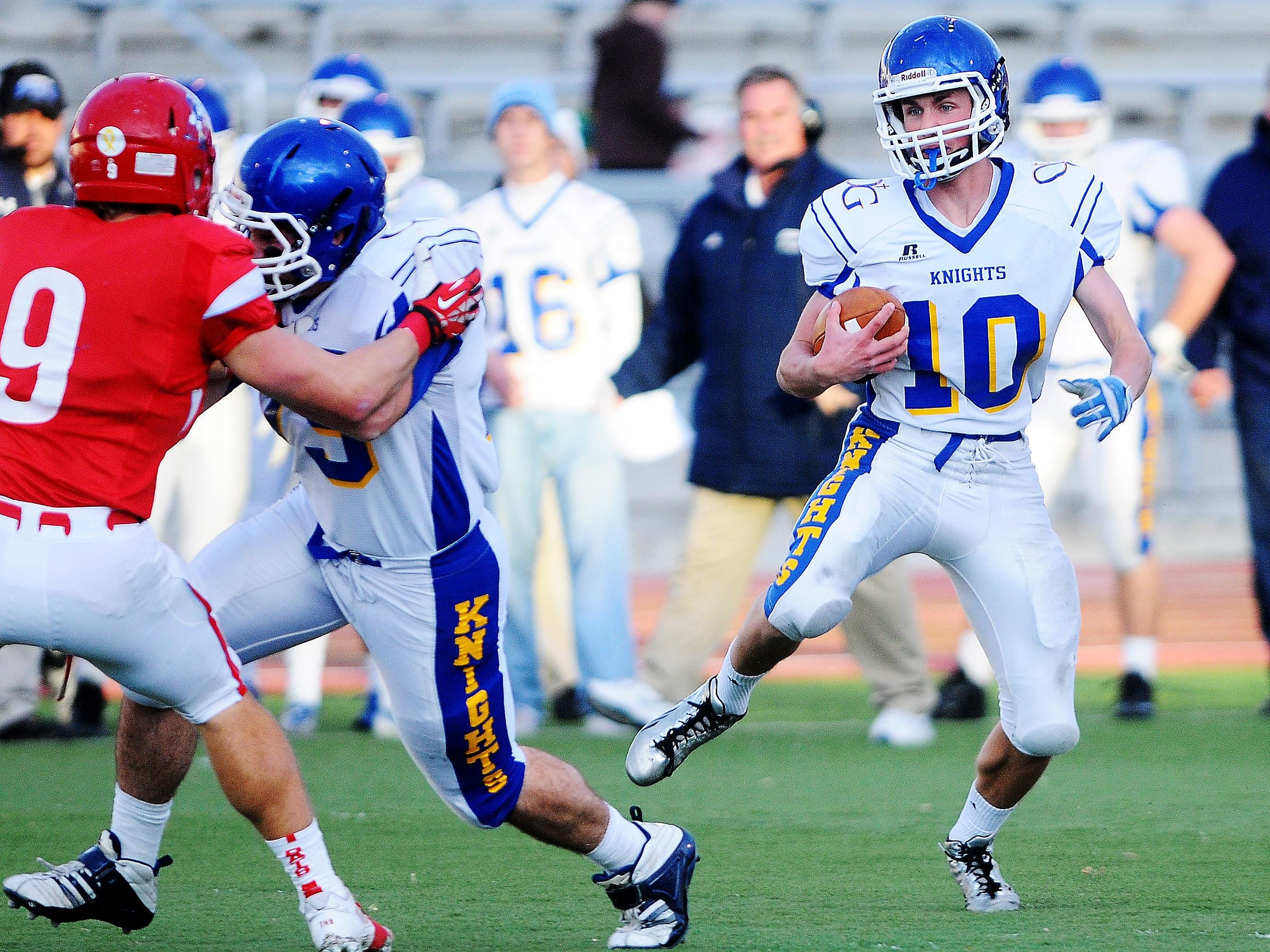 O'Gorman's QB-DB Luke Fritsch is one player who rarely comes off the field.