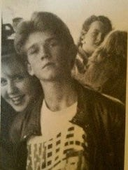 Greg Locke at 14 in a Vanilla Ice T-shirt. Growing