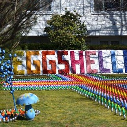 """Eggshelland"" on April 19, 2014 at the Lyndhurst Community"