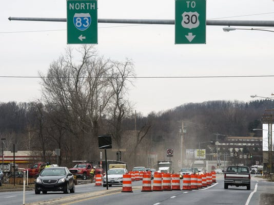 Crews have been working on improvements to the Market Street exit of Interstate 83 and North Hills Road in Springettsbury Township. The improvements are expected to help ease congestion. The work is slated to be finished in September, according to PennDOT.