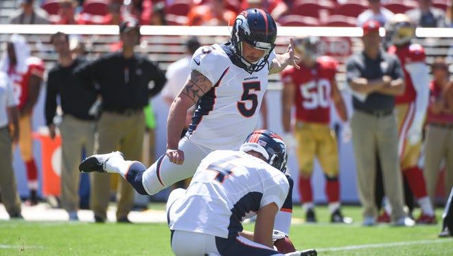 Denver Broncos kicker Matt Prater led the NFL by making 25 of 26 field goals last year.