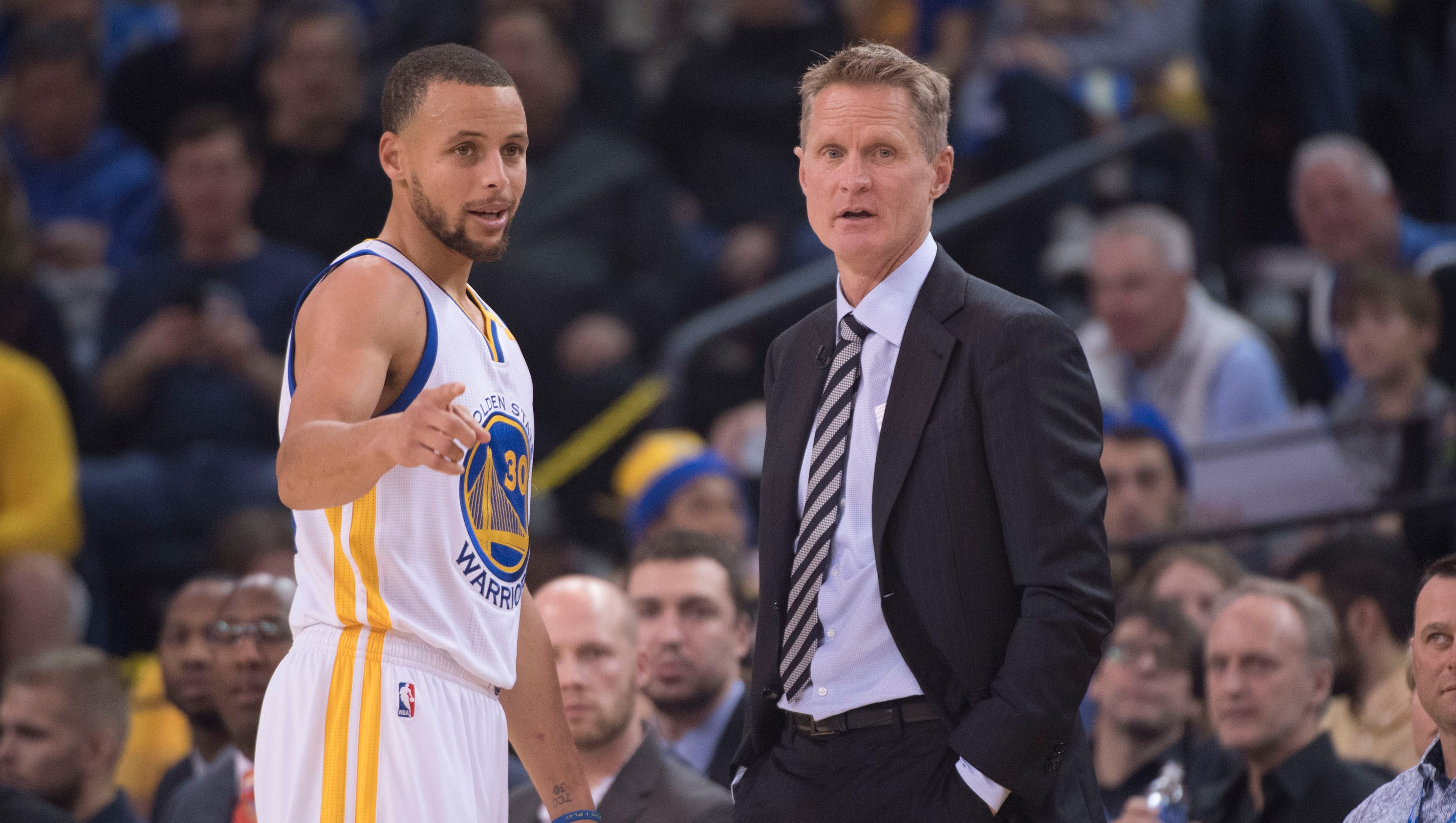 Image for Warriors coach Steve Kerr: Stephen Curry injury 'a good thing for our team'