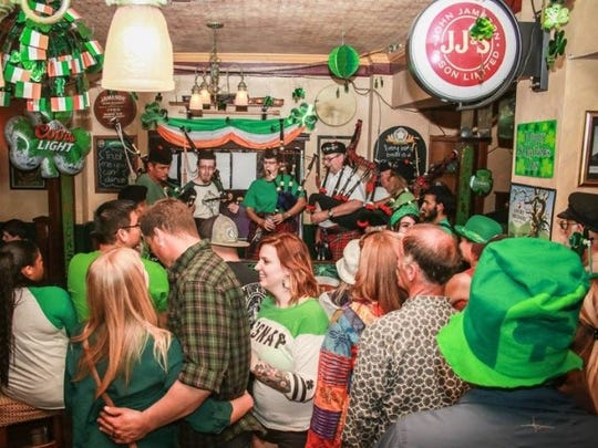 Crowds at the St. Patrick's Day festivities can enjoy live music and traditional Gaelic dancing — and, of course, plenty of liquid refreshments. The festival returns Friday and Saturday.