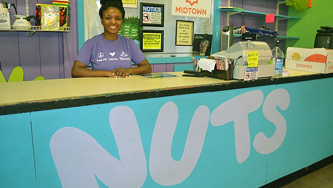 Melanie Hill, is the manager at NUTS, a thrift store located at 114 Millsaps Ave in Jackson that helps fund the workd of the Good Samaritan Center..