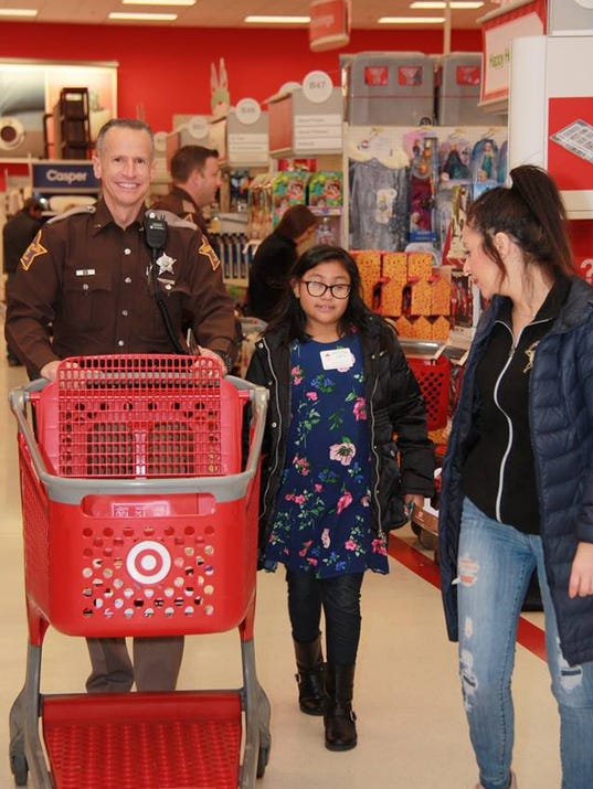 .Hamilton County Sheriff shop with a cop