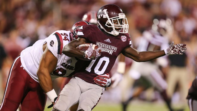 Mississippi State's Brandon Holloway leads the team's running backs in carries for a reason.
