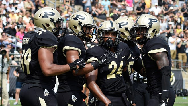 Purdue Boilermakers defensive back Frankie Williams (24) should return to action this week.