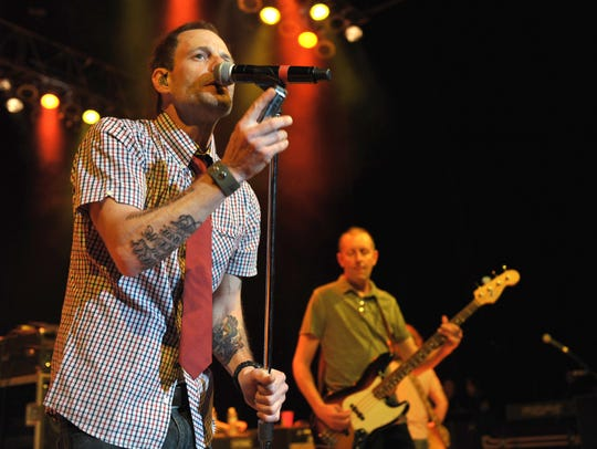 Robin Wilson of Gin Blossoms performs at the first-ever