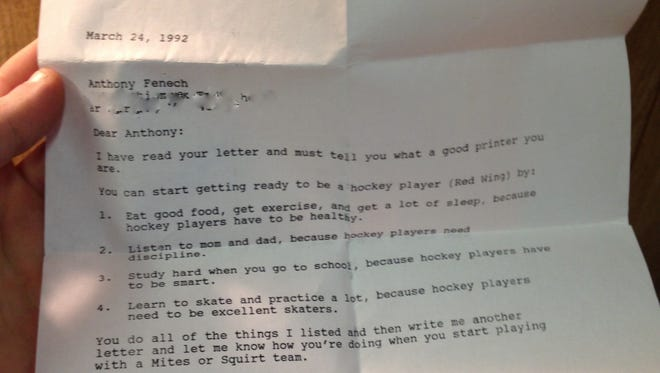 Mike Ilitch's letter to Anthony Fenech.