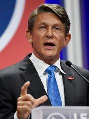 Republican gubernatorial candidate Randy Boyd speaks