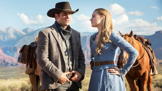 James Marsden and Evan Rachel Wood star in HBO's 'Westworld.'