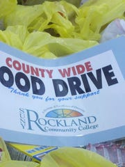 A People to People food drive held at Rockland Community College.