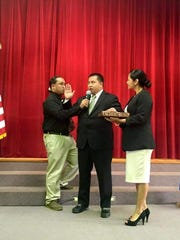 CNMI Lt. Gov. Ralph Deleon Guerrero Torres was sworn in Tuesday afternoon as the new CNMI governor shortly after Gov. Eloy Inos died in Seattle.