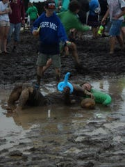"""In 2013, FloydFest became MudFest from rainy weather. When it isn't raining, Mary Beth Proctor calls it """"heaven on earth."""" The 2017 festival will be Proctor's 10th FloydFest experience."""