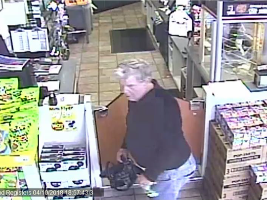 The man suspected in a string of thefts spanning three