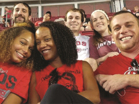 LendKey employees at a Reds game.