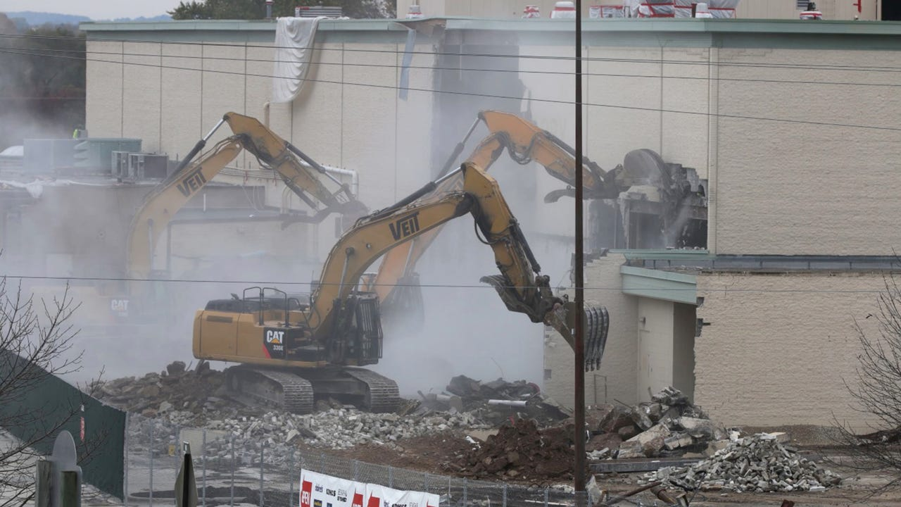 A time lapse - Sheboygan Memorial Mall, which was built in the late 1960s was torn down recently over a period of months to make way for a Meijers store.