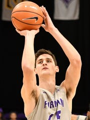 Clay Mounce is averaging 11 minutes, 4.7 points and 2.4 rebounds for Furman.
