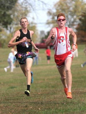 Lexington's Kyle Johnston and Shelby's Caleb Brown will take their rivalry from the cross country courses to the oval this spring as two of the area's outstanding distance runners.