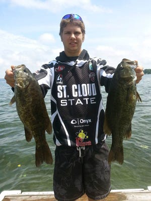 Tyler Gromberg of St. Cloud is a member of the Husky Bass Fishing Club at St. Cloud State University.