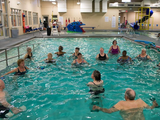 People gather at the Clarksville Area YMCA on June