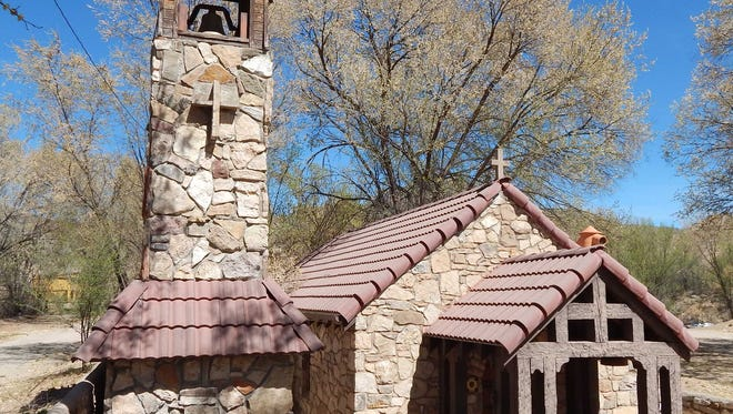 Saint Anne's Chapel, located just east of the turnoff into Devil's Canyon on U.S.Highway 70 is part of the State Register of Cultural Properties.