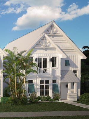 Stock Custom Homes has started construction of the first of three furnished 3,823-square-foot, two-story Row Houses on Sixth Street South in Old Naples.