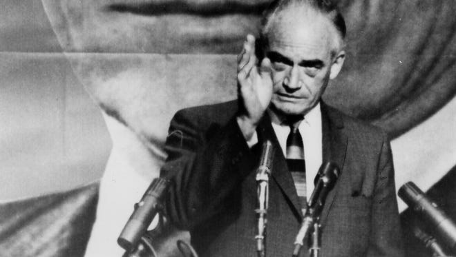 Barry Goldwater on the campaign trail in 1964.