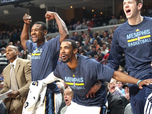 March 22, 2014 -  Memphis Grizzlies Tony Allen, Mike