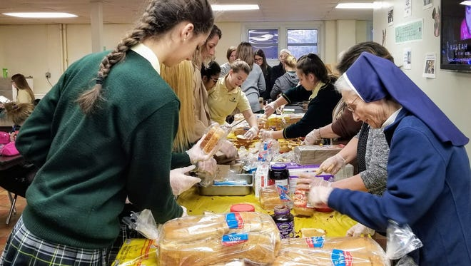 """Our Lady of Mercy Academy recently launched """"Operation PB&J"""" to support Code Blue."""
