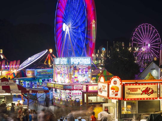 The midway is seen on the opening day of the Champlain Valley Fair in Essex Junction on Friday, August 26, 2016.