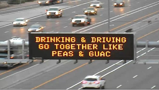 ADOT 'peas and guac' sign receives mixed reactions.