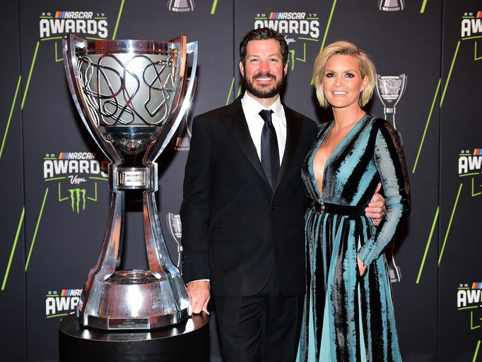 Martin Truex Jr., the 2017 Cup champion, and his girlfriend