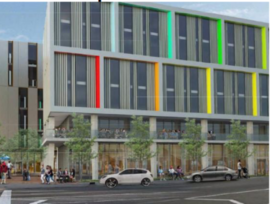 A rendering of the Eastern Market Mixed Use development